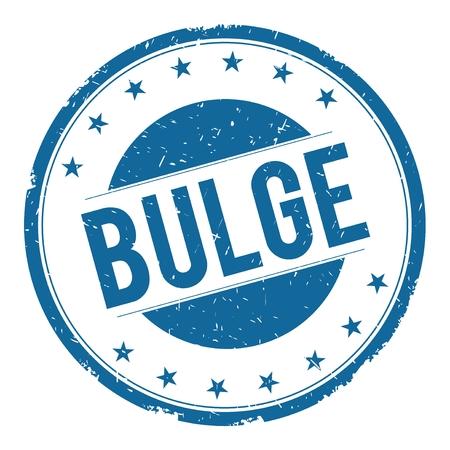 bulge: BULGE stamp sign text word logo blue.