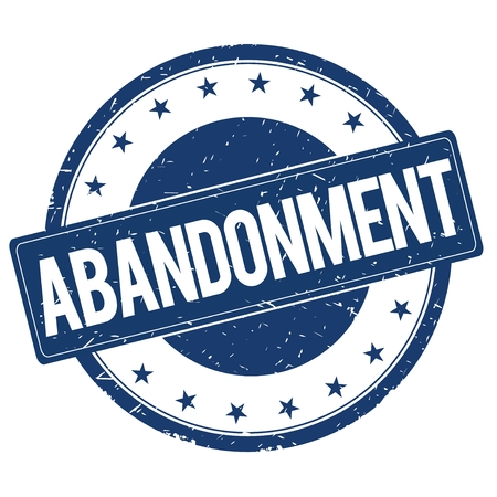 ABANDONMENT stamp sign text word logo blue.