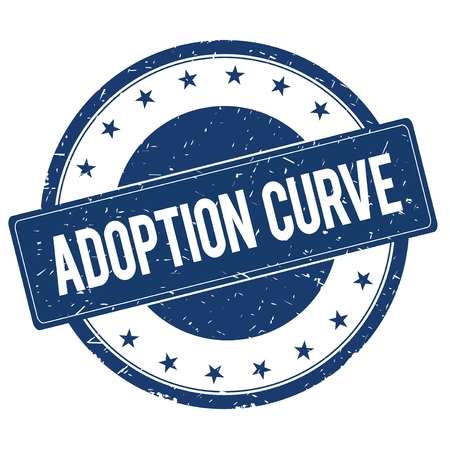 adoption: ADOPTION CURVE stamp sign text word logo blue.