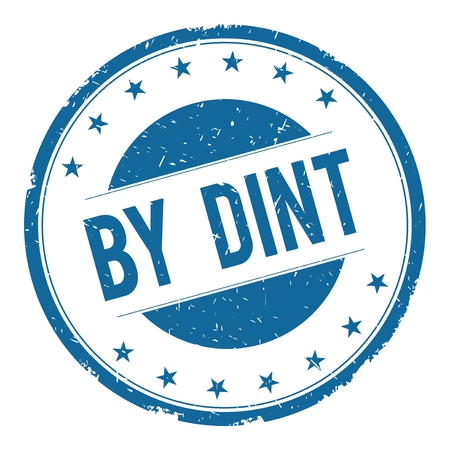 dint: BY DINT stamp sign text word logo blue.