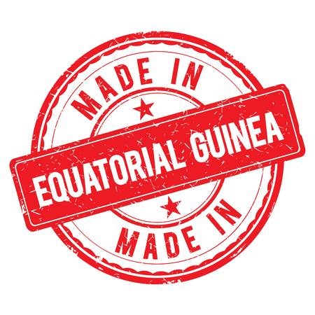 equatorial guinea: Made in EQUATORIAL GUINEA stamp Stock Photo