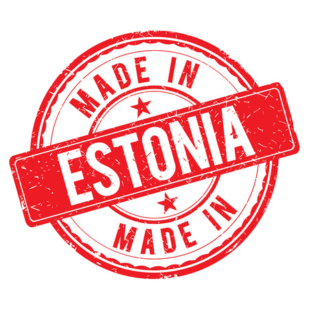 estonia: Made in ESTONIA stamp