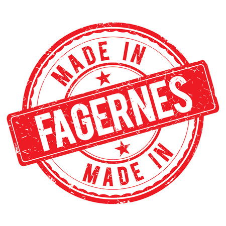made: Made in FAGERNES stamp Stock Photo
