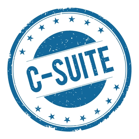 C SUITE stamp sign text word logo blue.