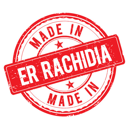 er: Made in ER RACHIDIA stamp Stock Photo