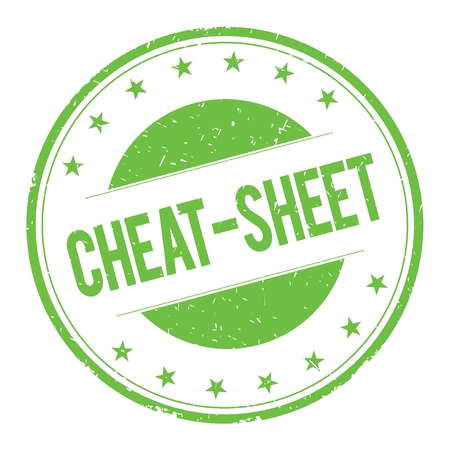 CHEAT-SHEET stamp sign text word logo green.