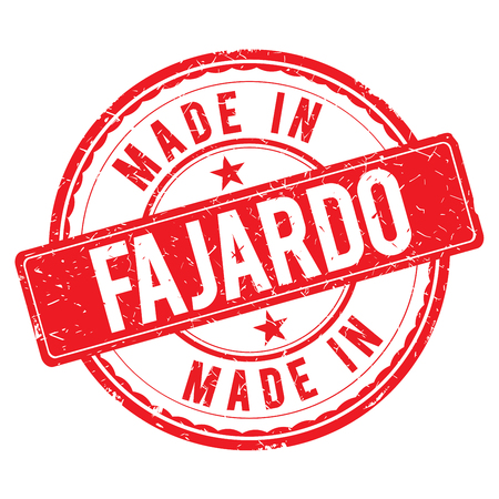 made: Made in FAJARDO stamp Stock Photo