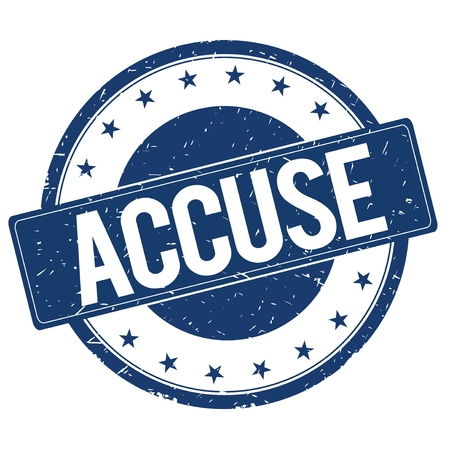 accuse: ACCUSE stamp sign text word logo blue. Stock Photo