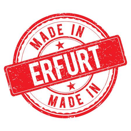 erfurt: Made in ERFURT stamp