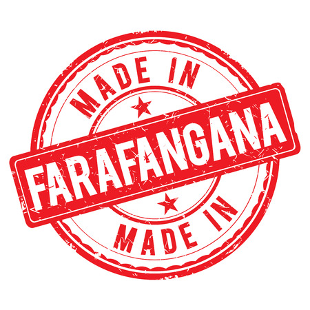 made: Made in FARAFANGANA stamp