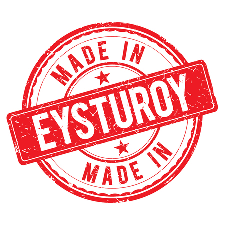 made: Made in EYSTUROY stamp Stock Photo