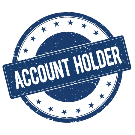 account: ACCOUNT HOLDER stamp sign text word logo blue.