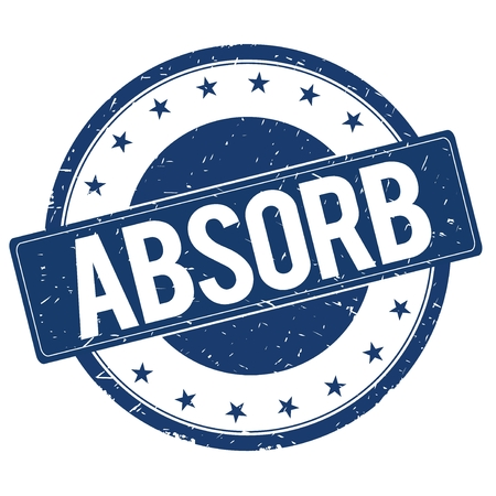 absorb: ABSORB stamp sign text word logo blue. Stock Photo