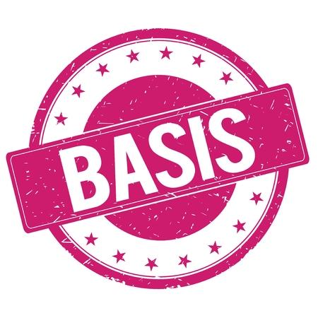 BASIS stamp sign text word logo magenta pink.
