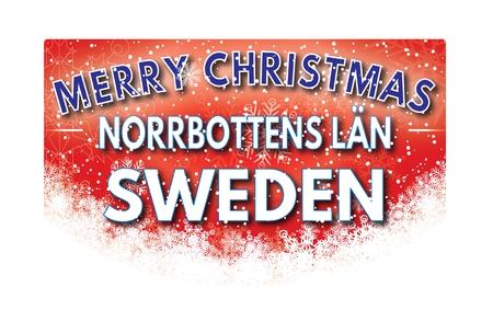 lan: NORRBOTTENS LAN SWEDEN  Merry Christmas greeting card