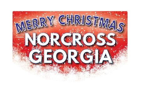 georgia: NORCROSS GEORGIA  Merry Christmas greeting card Stock Photo