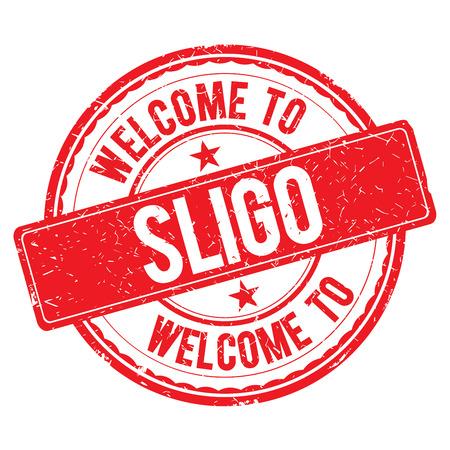 sligo: SLIGO. Welcome to stamp sign illustration Stock Photo