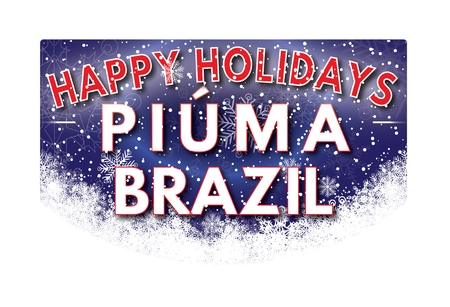 PIUMA BRASILIEN Frohe Feiertage Grußkarte