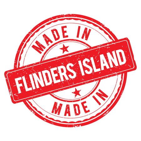 Made in FLINDERS ISLAND stamp