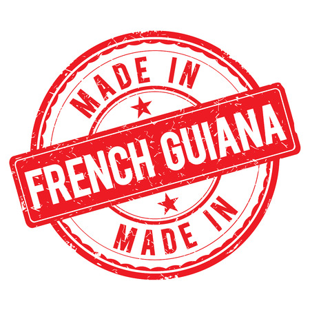 french guiana: Made in FRENCH GUIANA stamp Stock Photo