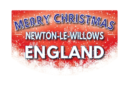 xm: NEWTON LE WILLOWS ENGLAND  Merry Christmas greeting card