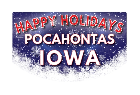 pocahontas: POCAHONTAS IOWA  Happy Holidays greeting card