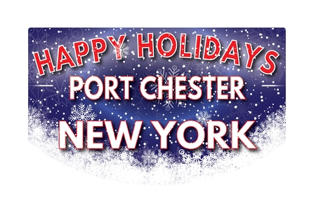 chester: PORT CHESTER NEW YORK  Happy Holidays greeting card