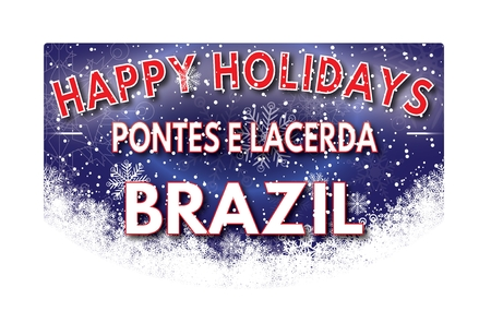 e card: PONTES E LACERDA BRAZIL  Happy Holidays greeting card