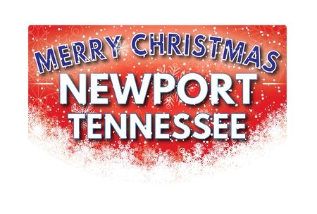 tennessee: tarjeta de felicitación NEWPORT TENNESSEE Feliz Navidad