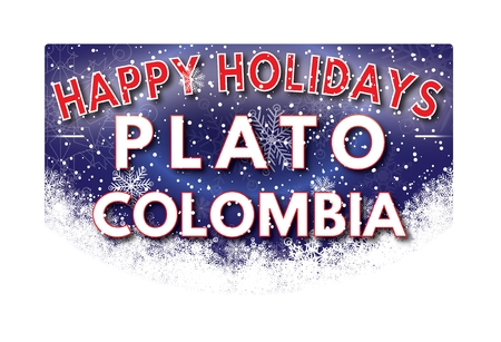 PLATO COLOMBIA  Happy Holidays greeting card