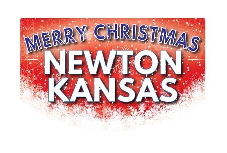 KANSAS: NEWTON KANSAS  Merry Christmas greeting card Stock Photo