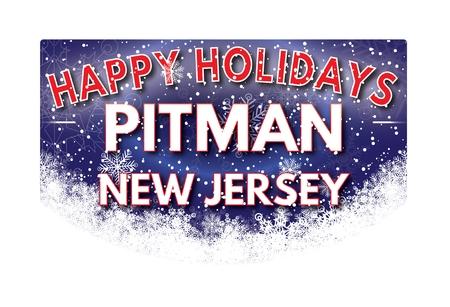 pitman: PITMAN NEW JERSEY  Happy Holidays greeting card