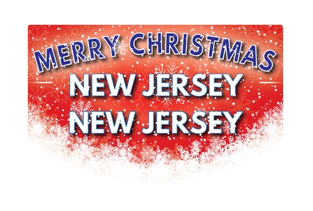 jersey: NEW JERSEY NEW JERSEY  Merry Christmas greeting card Stock Photo