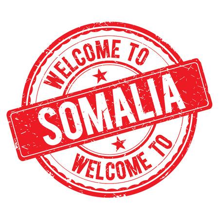 somalia: SOMALIA. Welcome to stamp sign illustration