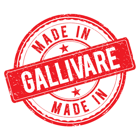 made: Made in GALLIVARE stamp Stock Photo