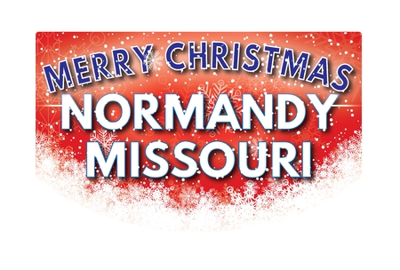 normandy: NORMANDY MISSOURI  Merry Christmas greeting card
