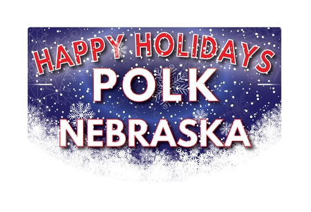 nebraska: POLK NEBRASKA  Happy Holidays greeting card Stock Photo
