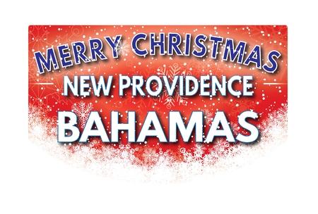 providence: NEW PROVIDENCE BAHAMAS  Merry Christmas greeting card Stock Photo