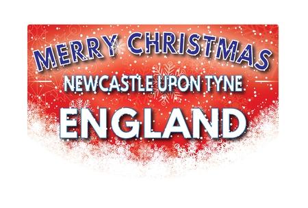 NEWCASTLE UPON TYNE ENGLAND  Merry Christmas greeting card