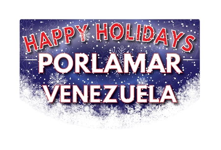 venezuela: PORLAMAR VENEZUELA  Happy Holidays greeting card
