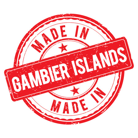 Made in GAMBIER ISLANDS stamp