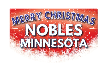 nobles: NOBLES MINNESOTA  Merry Christmas greeting card
