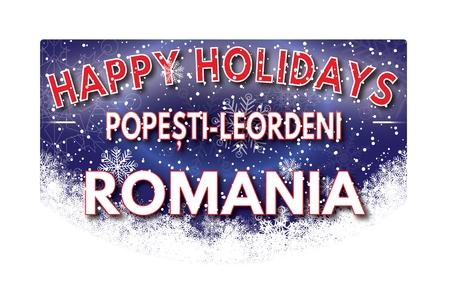 pope: POPE TI LEORDENI ROMANIA  Happy Holidays greeting card