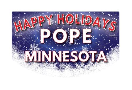 pope: POPE MINNESOTA  Happy Holidays greeting card