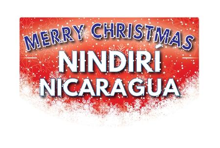 nicaragua: NINDIRI NICARAGUA  Merry Christmas greeting card
