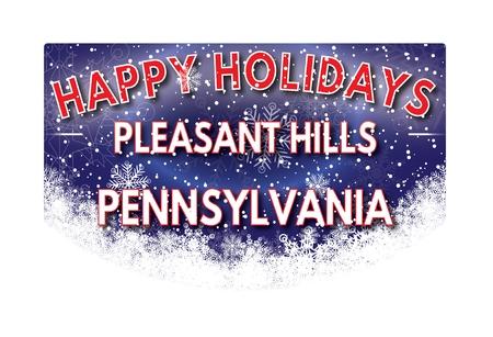 pennsylvania: PLEASANT HILLS PENNSYLVANIA  Happy Holidays greeting card Stock Photo