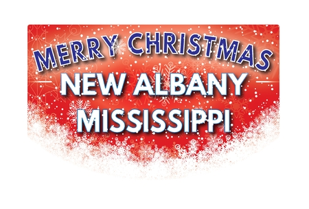 albany: NEW ALBANY MISSISSIPPI  Merry Christmas greeting card Stock Photo