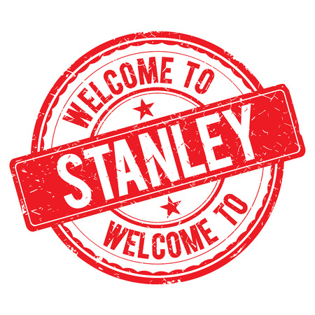 stanley: STANLEY. Welcome to stamp sign illustration