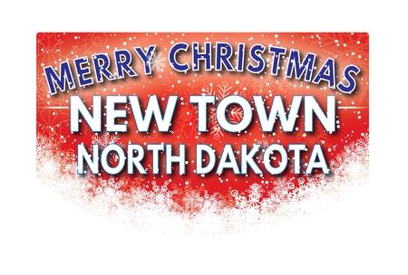 dakota: NEW TOWN NORTH DAKOTA  Merry Christmas greeting card