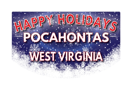 pocahontas: POCAHONTAS WEST VIRGINIA  Happy Holidays greeting card